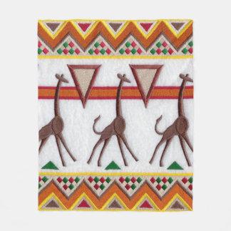 Cobertor De Velo Girafas na cobertura de África