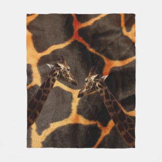 Cobertor De Velo Girafas no fundo exótico do girafa,