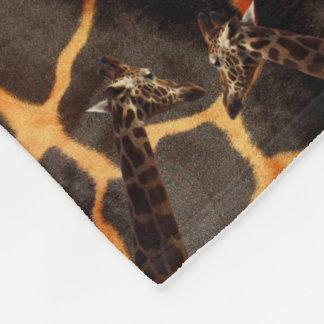 Cobertor De Velo Girafas no fundo exótico do girafa, pequeno
