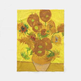 Cobertor De Velo Girassóis de Van Gogh quinze em umas belas artes