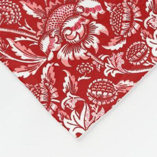 Cobertor De Velo Girassóis de William Morris, vermelho escuro e