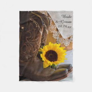 Cobertor De Velo Girassol do país e casamento ocidental do laço