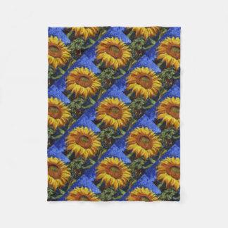 Cobertor De Velo Girassol no estilo de Van Gogh