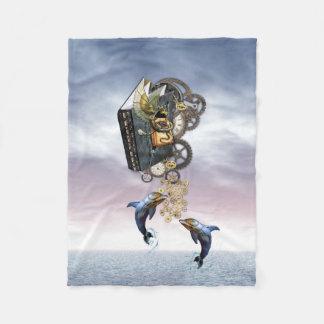Cobertor De Velo Golfinhos de salto de Steampunk