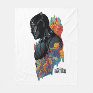 Cobertor De Velo Grafites tribais da pantera preta de pantera preta