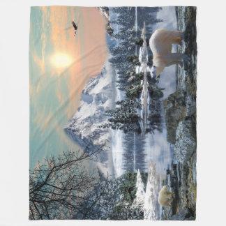Cobertor De Velo Grande cobertura do velo do urso polar