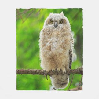 Cobertor De Velo Grande foto da coruja Horned