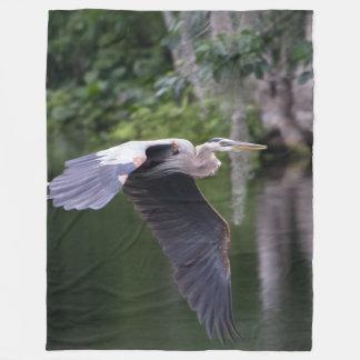 Cobertor De Velo Grande garça-real em vôo