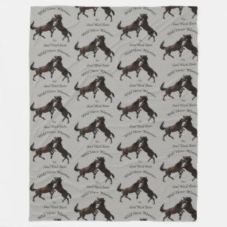 Cobertor De Velo Guerreiros do cavalo selvagem