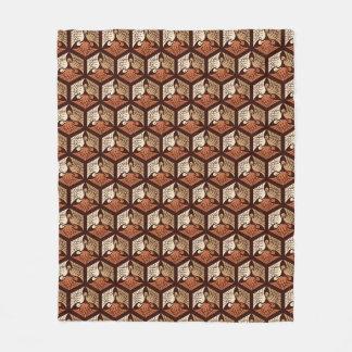 Cobertor De Velo Guindastes, Tan, oxidação & castanho chocolate