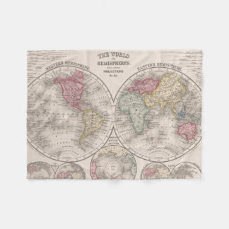 Cobertor De Velo Hemisférios orientais & ocidentais do mundo 1860 -