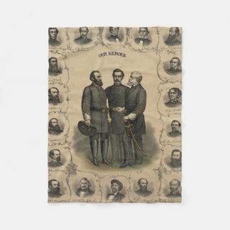 Cobertor De Velo Heróis da guerra civil
