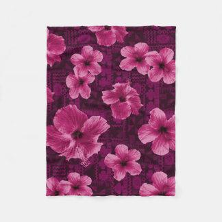 Cobertor De Velo Hibiscus havaiano tropical do Tapa de Kalalau
