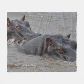 Cobertor De Velo Hipopótamos