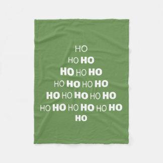Cobertor De Velo HO HO HO cobertura do velo do Natal