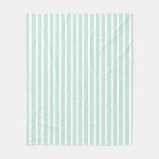 Cobertor De Velo Hortelã confortavelmente bonito verde e branco