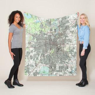 Cobertor De Velo Houston Texas Mapa (1992)