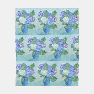 Cobertor De Velo Hydrangeas em um vaso