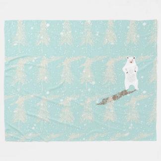Cobertor De Velo Icebear na floresta da neve