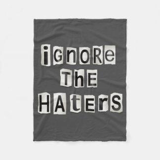 Cobertor De Velo Ignore os haters.