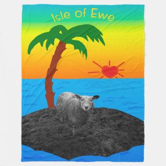 Cobertor De Velo Ilha da ovelha para o dia dos namorados