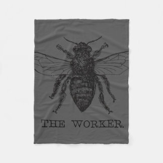 Cobertor De Velo Ilustração da caneta e da tinta da abelha de