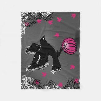 Cobertor De Velo ilustração do Dia das Bruxas de um corvo e de uma