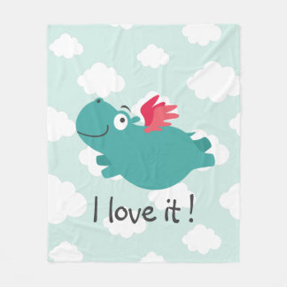Cobertor De Velo Ilustração do hipopótamo do vôo