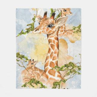 Cobertor De Velo Imagem do animal do retrato do girafa