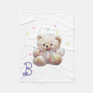 Cobertor De Velo Imagem personalizada do urso de ursinho
