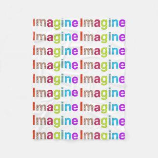 Cobertor De Velo Imagine o design colorido da inspiração do
