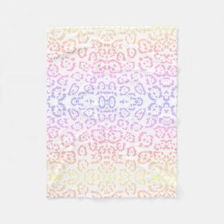 Cobertor De Velo Impressão animal do arco-íris Pastel do leopardo