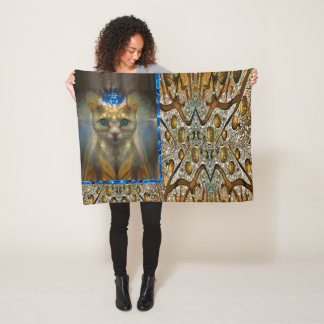 Cobertor De Velo Impressão animal do gato real
