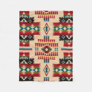 Cobertor De Velo Impressão asteca do diamante da MULTI-COR
