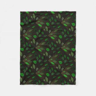 Cobertor De Velo Impressão da folha de Brown