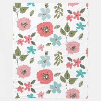 Cobertor De Velo Impressão floral ilustrado mão