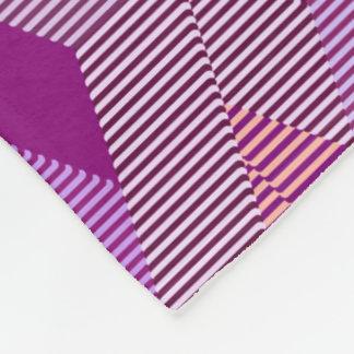 Cobertor De Velo Impressão moderno do diamante do meio século, roxo