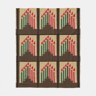 Cobertor De Velo Impressão verde preto vermelho do Crochet das