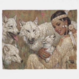 Cobertor De Velo INDIANO MADIEN e LOBOS