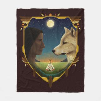 Cobertor De Velo Índio e Wolf- Penheka