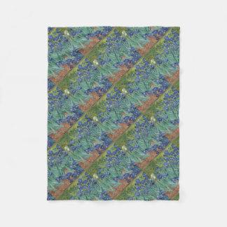 Cobertor De Velo Íris de Vincent van Gogh que pintam o trabalho de
