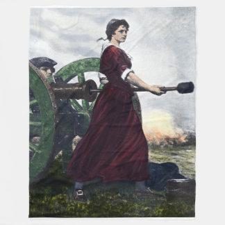 Cobertor De Velo Jarro de Molly - patriota revolucionário da guerra