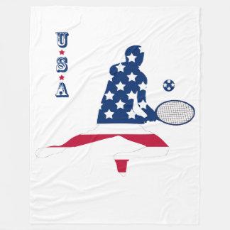 Cobertor De Velo Jogador do americano do tênis dos EUA