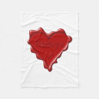 Cobertor De Velo Kathryn. Selo vermelho da cera do coração com