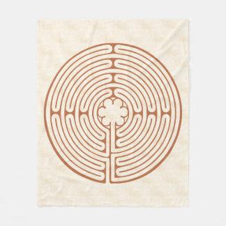 Cobertor De Velo Labirinto Brown de Chartres