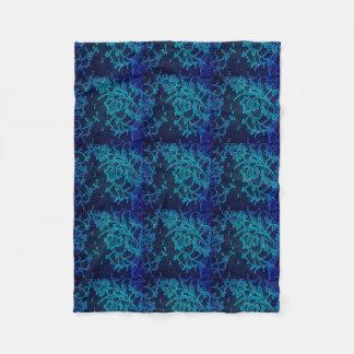 Cobertor De Velo Laço gótico dos azuis marinhos do Victorian