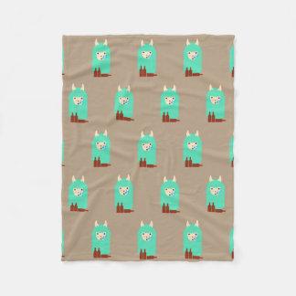 Cobertor De Velo Lama bêbedo engraçado Emoji