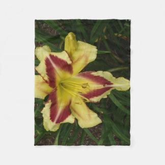 Cobertor De Velo Lance amarelo e roxo do lírio