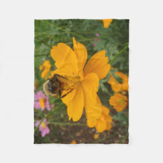 Cobertor De Velo Lance da flor e da abelha