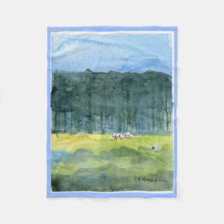 Cobertor De Velo Lance pastoral do velo da paisagem